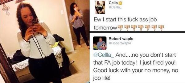Despiden a una mujer por Twitter antes de empezar su nuevo trabajo